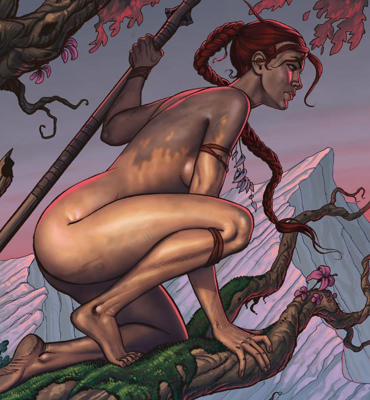Theleana na konarze drzewa.