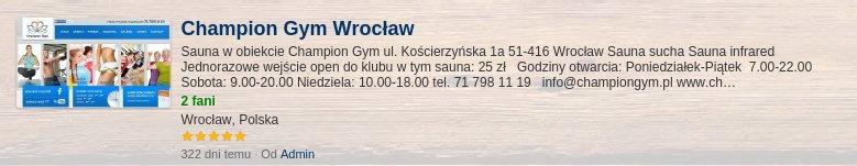 Dołącz do grupy Champion Gym Wrocław