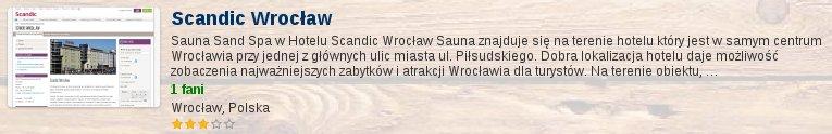 Oceń saunę we Wrocławskim Scandic Wrocław