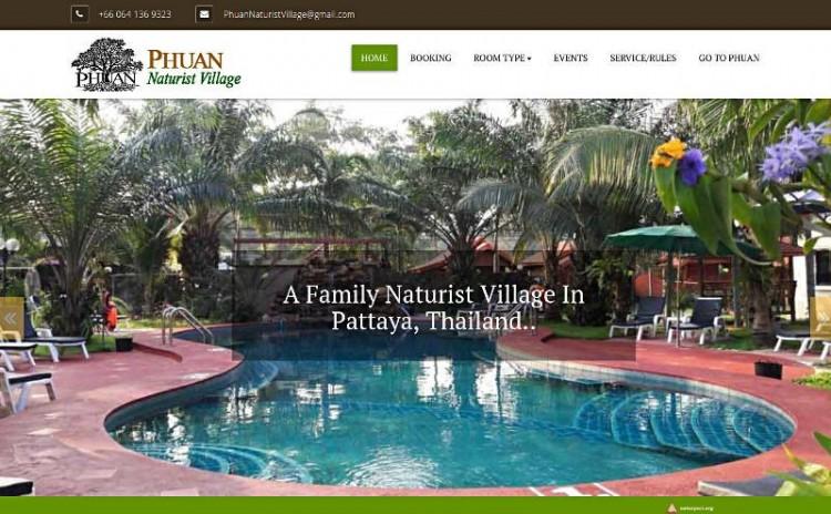 Rodzinna wioska naturystyczna w Pattaya w Tajlandii