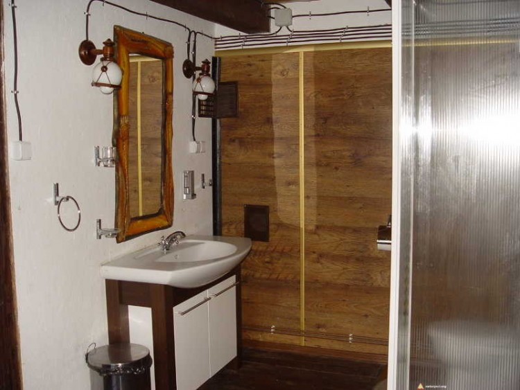 Chata dla naturystów w Osada Bieszczady - łazienka