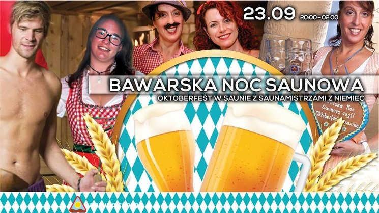 Plakat promujący Bawarską Noc Saunową w 2016 r