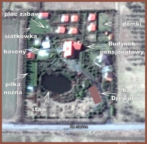 widok ośrodka z map google
